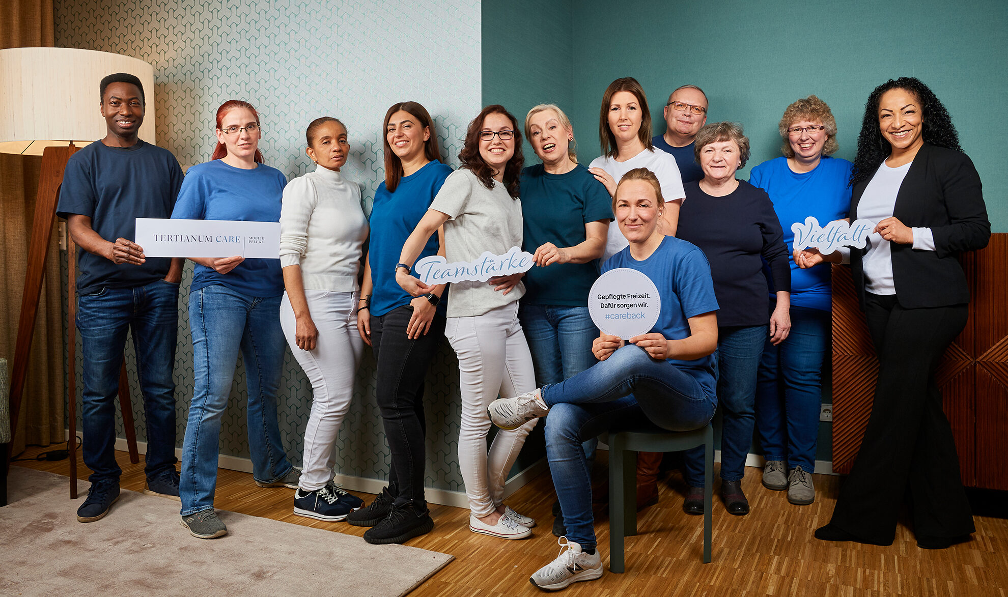 Gruppenbild des Teams von Tertianum Care, dem mobilen Pflegedienst von Tertianum