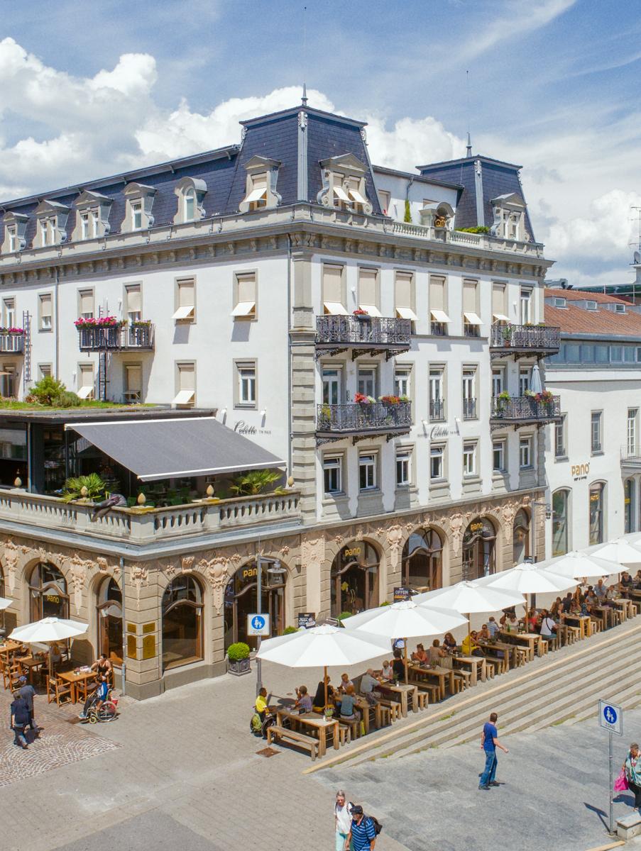 Luftaufnahme der Luxus Seniorenresidenz Tertianum Konstanz