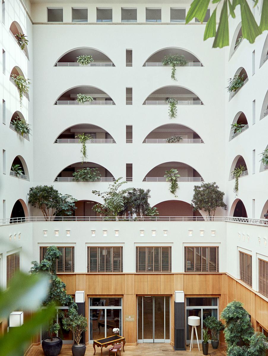 Das Atrium der luxuriösen Seniorenresidenz Tertianum Berlin